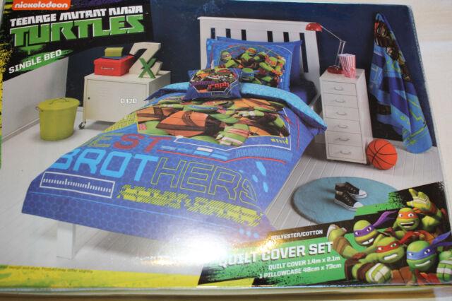Teenage Mutant Ninja Turtles TMNT Best Brothers Single Bed Quilt Cover Set New