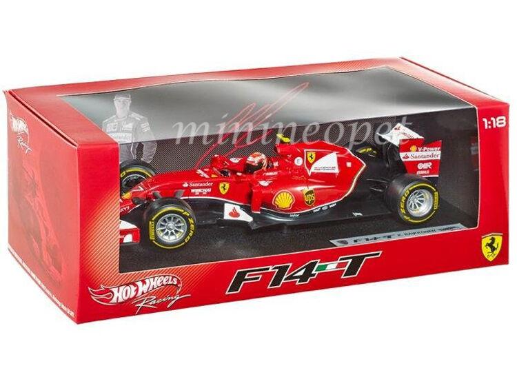 HOT WHEELS BLY68 2014 Formule F 1 Ferrari F14 T 1 18 Diecast Kimi Raikkonen