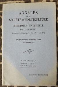 Horticulture & Histoire Naturelle De L'hérault ✤ Annales / N°3 De 1957 Pcnvvmyn-07175808-234824646