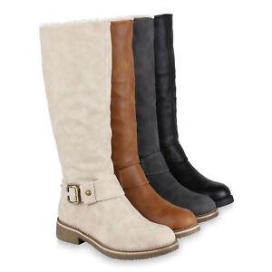 first rate db8f9 5eeaa Details zu Flache & Warme Damen Stiefel Nieten Leder-Optik Gefüttert 70180  Schuhe