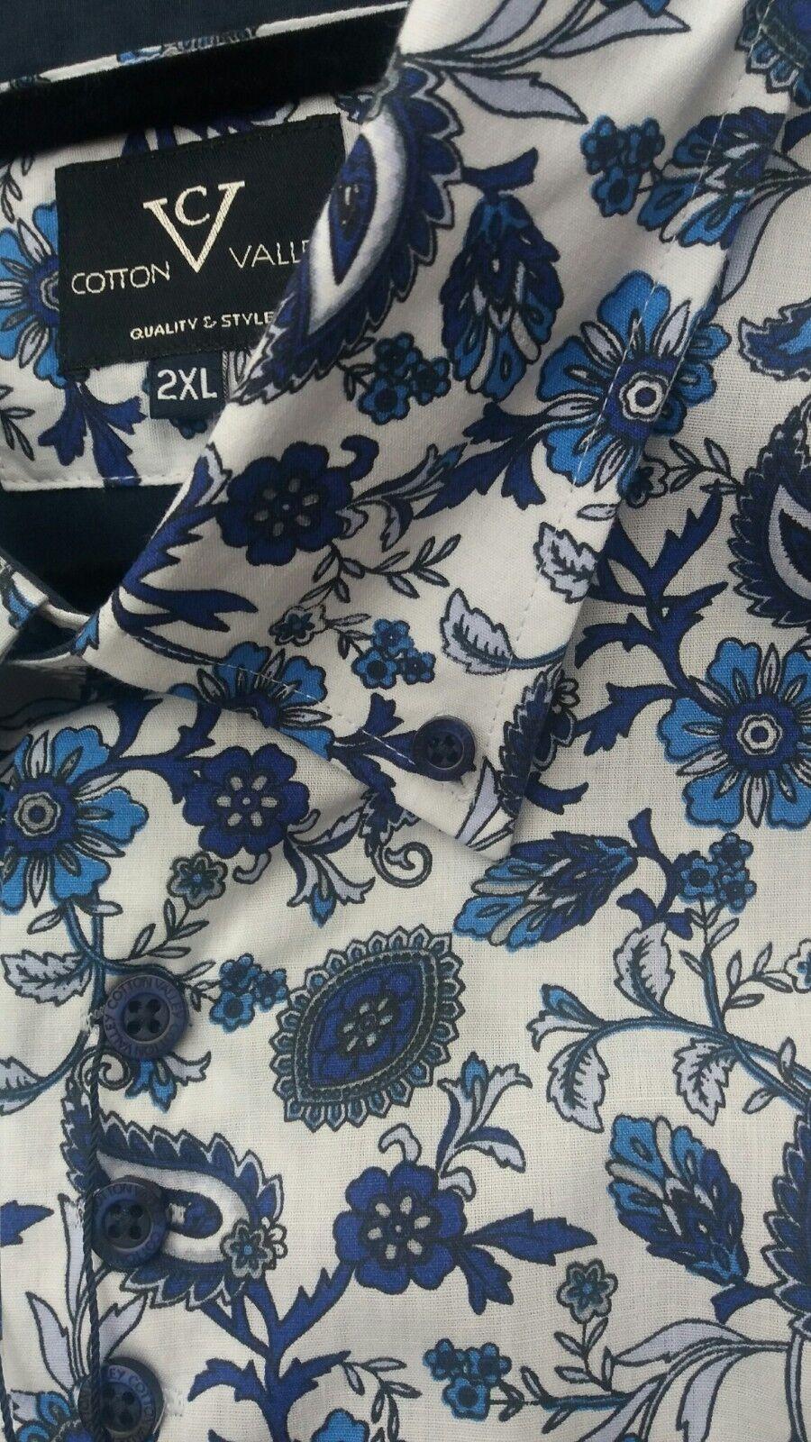 Kurzärmlig Blau Blau Blau Blaumen Shirt von Cotton Valley 2xl3xl4xl5xl6xl7xl8xl   Neuheit Spielzeug    Deutschland Online Shop  088b85
