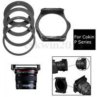 4Pcs Set 58mm 67mm 72mm 77mm Adapter Ring+Lens Filter Holder For Cokin P Series