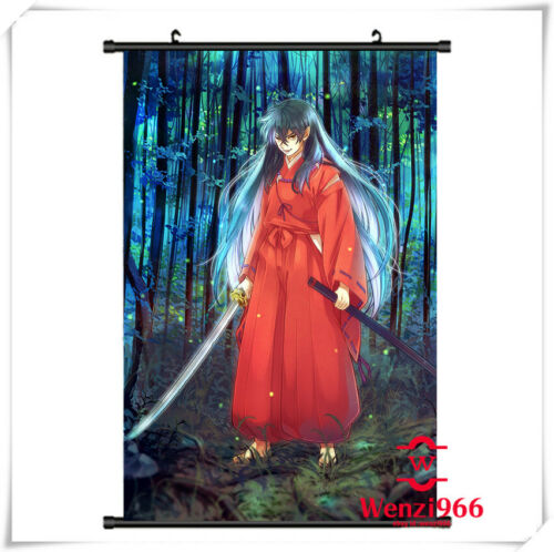 Anime InuYasha Otaku Picture Wall Decor Poster Scroll Home Gift 60*90CM #X85