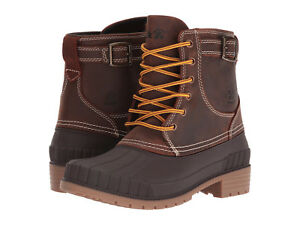 Kamik-Women-039-s-Evelyn-Waterproof-Insulated-Leather-Duck-Boots-Dark-Brown