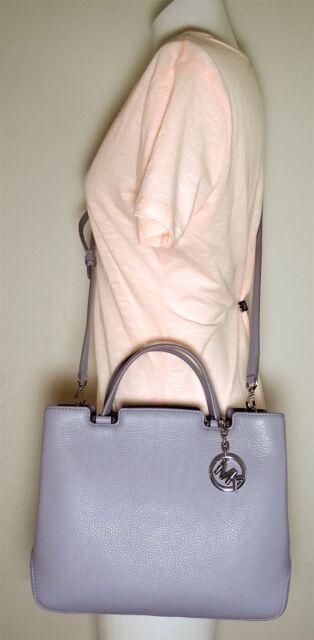 Michael Kors Lilac Medium Top Zip Leather Annabelle Satchel 30s6sgapt2l