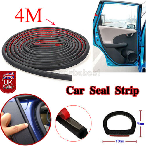 4M Small D Car Door Seal Strip Edge Rubber Protectors Weatherstrip Sealing Trim