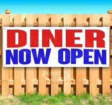 Diner Now Open Advertising Vinyl Banner Flag Sign Many Sizes