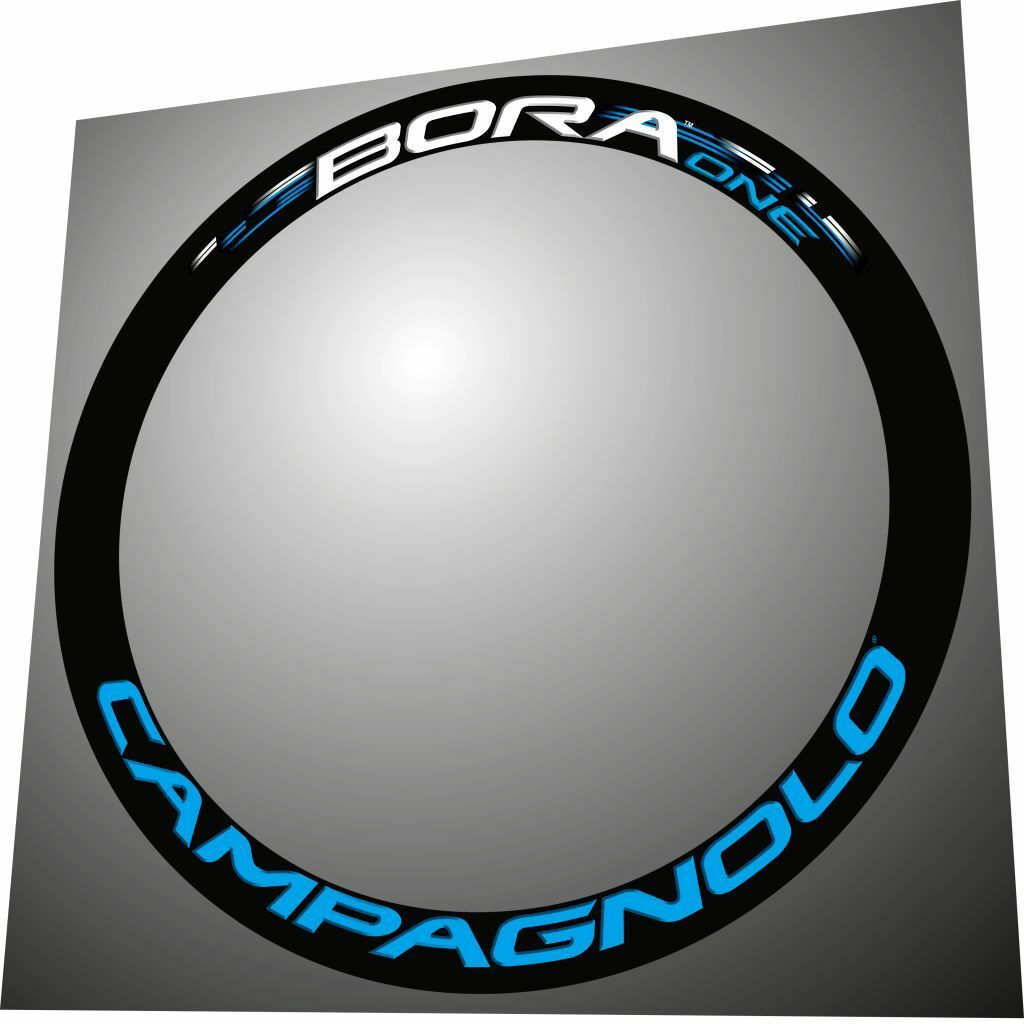CAMPAGNOLO BORA ONE  WHITE & LIGHT blueE 3D DESIGN REPLACEMENT RIM DECAL SET FOR 2  online retailers