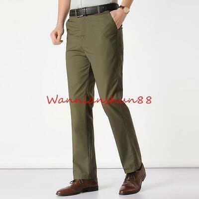 classic mens business formal office cargo pants casual
