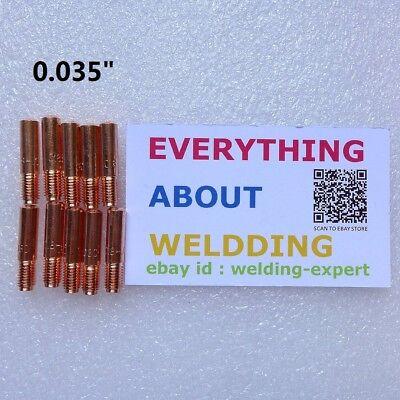 """10 Mig Welding Contact Tips 000-068 .035/"""" 000068 M15//25//40 770401 MILLER//HOBART"""