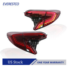 Red Led Rear Lamps Tail Lights Assembly For 2018 2019 2020 Toyota Chr One Pair