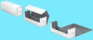 ULTIMATE-GUARD-ARKHIVE-WHITE-XENOSKIN-FLIP-400-DECK-CASE-Card-Storage-Box-MTG