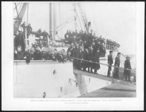 1898-Antique-Print-SOUTHAMPTON-India-Frontier-Troops-Steam-Ship-Nubia-304