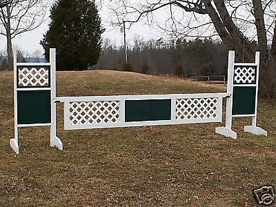 Horse Jumps 2 Panel Lattice Wooden  Gate - 12ft x18in H - color Choice  big savings