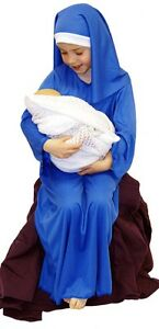 Blue VIRGIN MARY Fancy Dress Costume ALL AGES Christmas Nativity-School Play