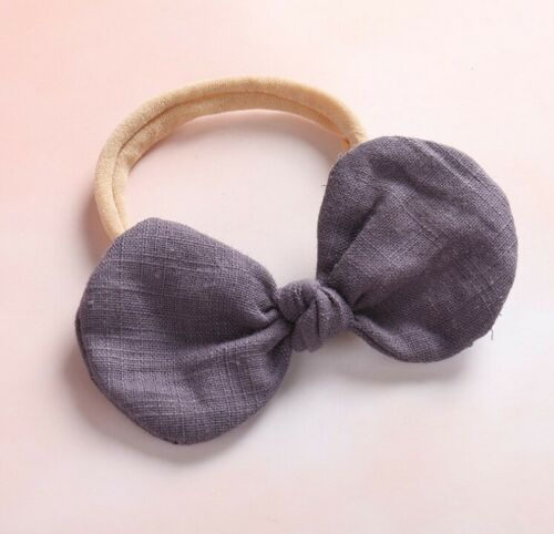 Newborn Baby Nylon Soft Bow Head Wrap Turban Top Knot Headband Girl Accessories