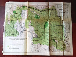 1898 USGS Pikes Peak Plum Creek Forest Reserves Density Map John Jack