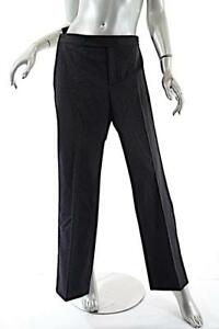 9cc20d502b494 RALPH LAUREN Charcoal Wool Blend Pant with Silver Pinstripe Detail ...