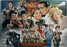 The Legends of Hollywood Blechschild 35x50cm Filmstars Kino Film Stars Legenden