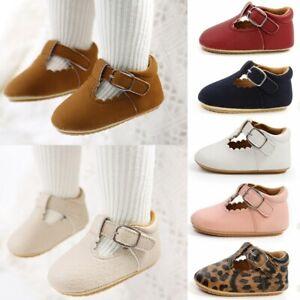 Baby Sandals Newborn Boy Girl Non Slip Cloth Walking Shoes Trainer Shoes 0-18M U