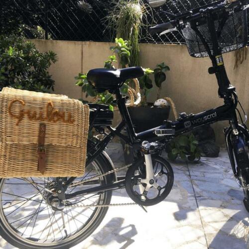 wicker double pannier Moroccan handmade wicker bicycle double basket Bike sadd