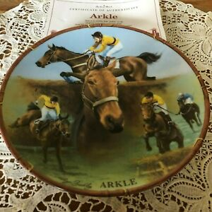RACEHORSE-PLATE-ARKLE-DANBURY-MINT-ROYAL-WORCESTER-WITH-CERTIFICATE