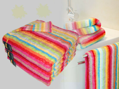 2 x Handtuch Set multicolor NEU Cawö Lifestyle 7008 Handtuchset 1 x Duschtuch