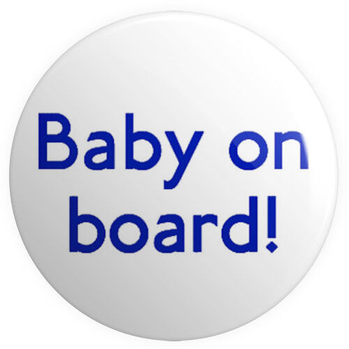 Baby on Board BUTTON PIN BADGE 25mm 1 INCH Pregnant London Tube Font Mother