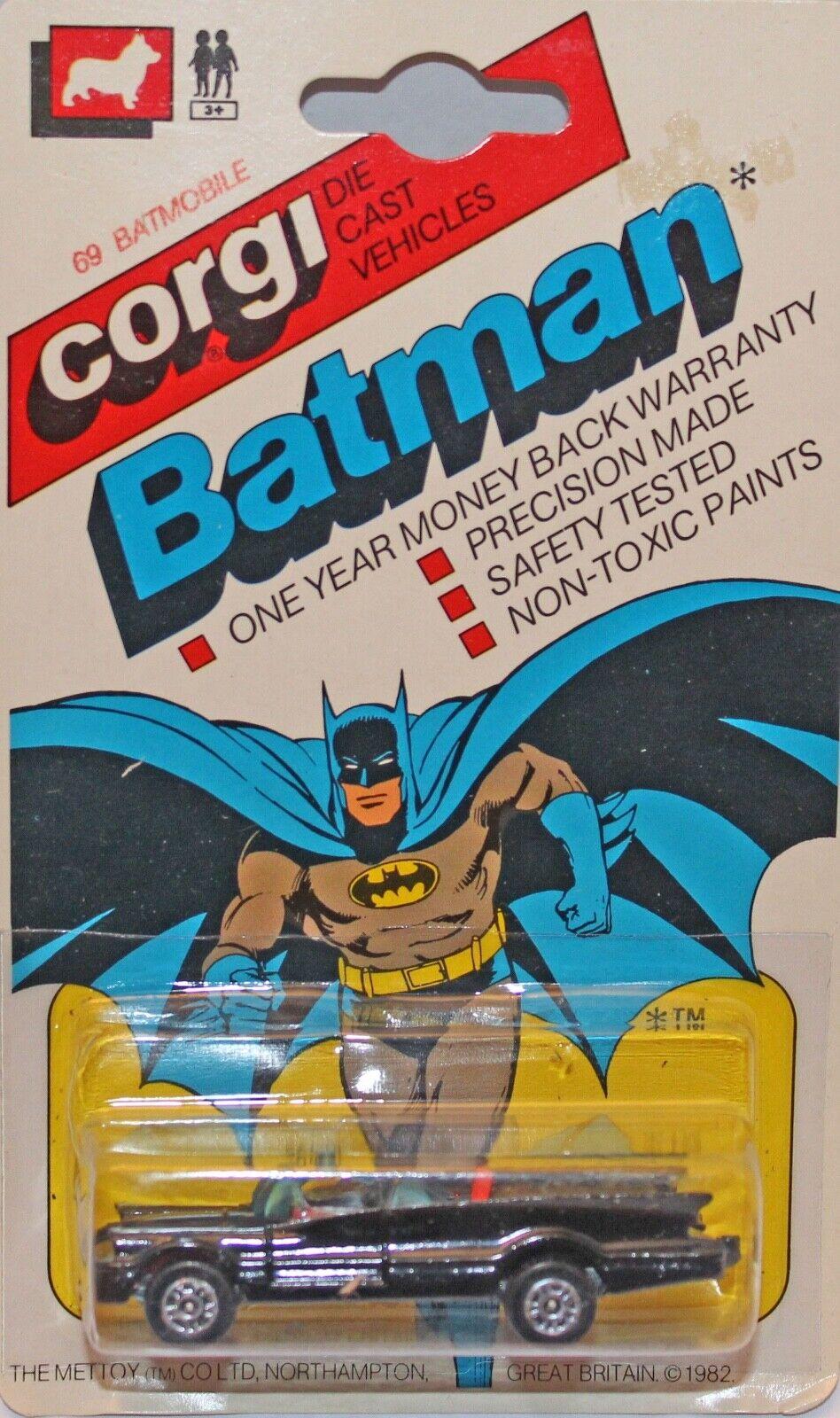 Corgi Juniors Bat-mobile USA Long carded Very nice card. BATMAN