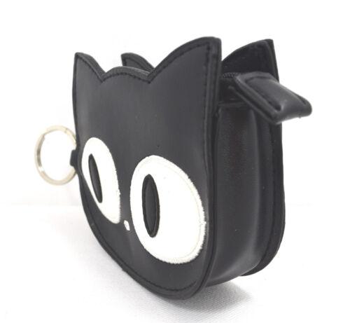 Lost Queen Emo Punk Kawaii Gothic Lolita Big Eye Black Cat Face Coin Purse