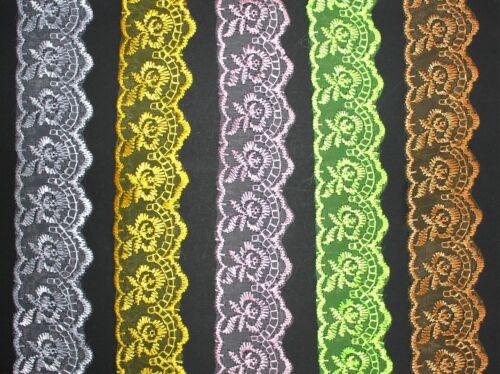 1,75 €//m 2m delicada Stick-Punta de 40 mm de ancho colores cenefa banda coser bricolaje 1