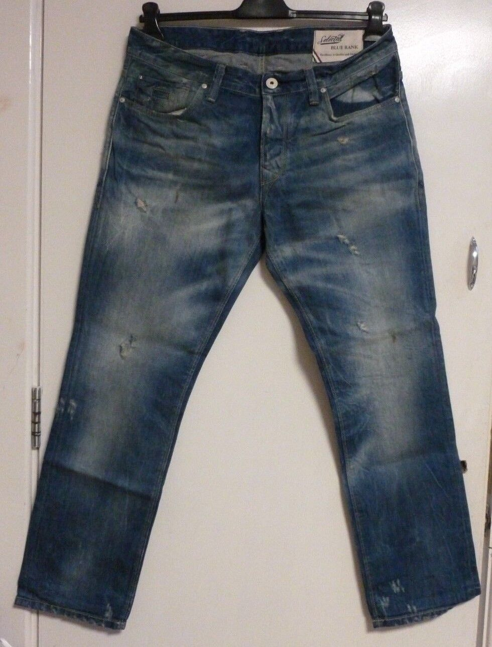 Selected Jeans Regular Two Andy Br 1299 J SIZE 36 32 RRP  CR181 FF 03