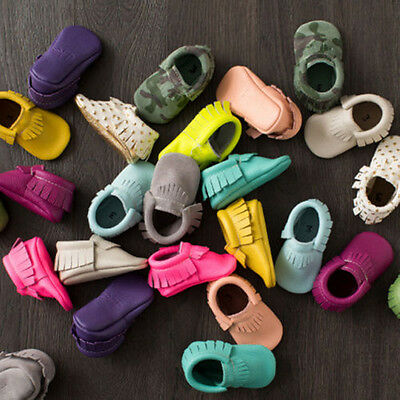 Fashion Tassel Baby Soft Sole Leather Shoes Boy Girl Infant Toddler Moccasin