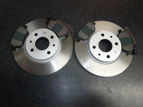 FIAT QUBO QUALITY FRONT BRAKE DISCS AND PADS WITH WEAR LEAD SENSORS 257MM