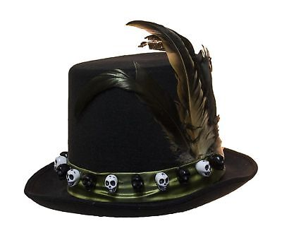 Jacobson Hat Company Men/'s 6 Inch Deluxe Voodoo Witch Doctor Hat with Green S...