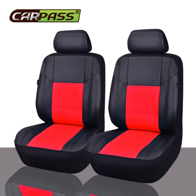 Amazing Universal Faux Leather Two Front Car Seat Covers Set Red For Mazada Hyundai Crv Pdpeps Interior Chair Design Pdpepsorg