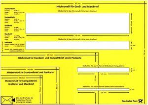 Postschablone-Formatschablone-Briefschablone-Mess-Schablone-Portoschablone