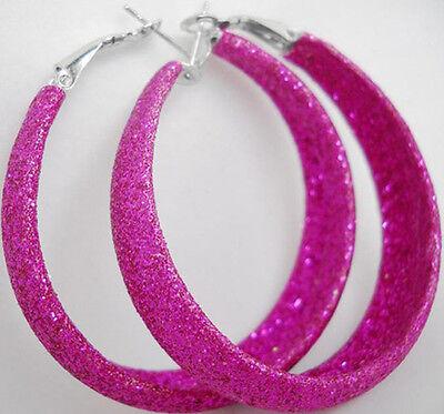 E1032 fashion rose red pull polish women girl hoop earrings jewelry