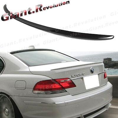 Painted Trunk Spoiler For 06-09 BMW 7-Series 750i 750Li 760Li 475 BLACK SAPPHIRE