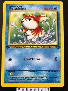 Carte-Pokemon-POISSIRENE-53-64-Commune-Jungle-Wizard-EDITION-1-FR-NEUF