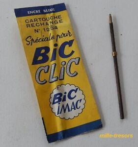 Ancienne-CARTOUCHE-Rechange-Speciale-pour-BIC-CLIC-BIC-Imac-N-1254-sous-etui