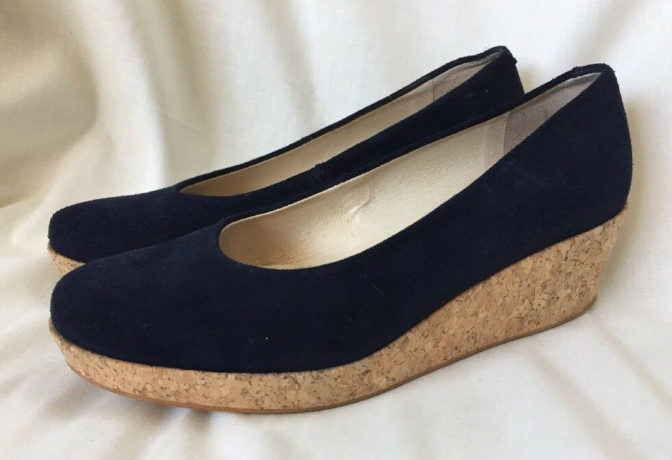 KMB LADIES Blau UK SUEDE WEDGE CORK Schuhe Größe 4.5 UK Blau 37.5 EUR d9777b