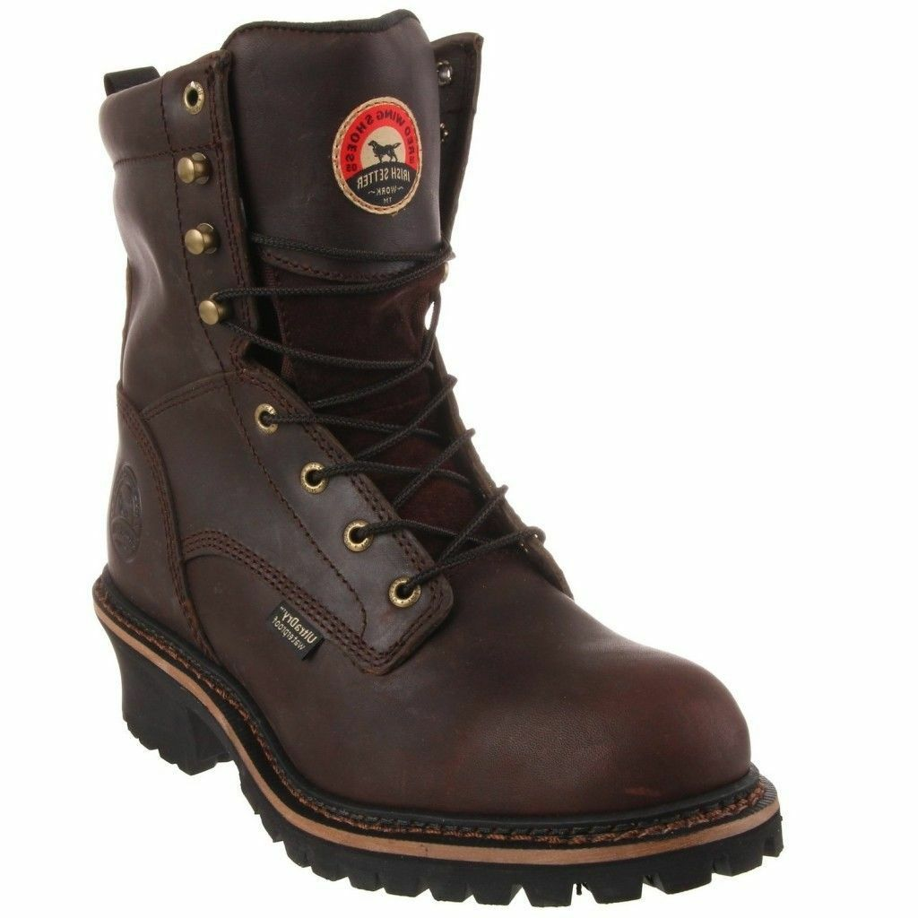 Red Wing Irish Setter Steel Toe Waterproof Logger Boots 83808 NIB