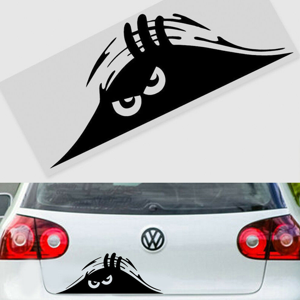 scary monster peeper funny car van truck bumper window vinyl decal sticker ws ebay. Black Bedroom Furniture Sets. Home Design Ideas