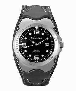 Mountaineer Mens Sport Watch Black Band Date Waterproof 10 ATM Reloj de Hombres