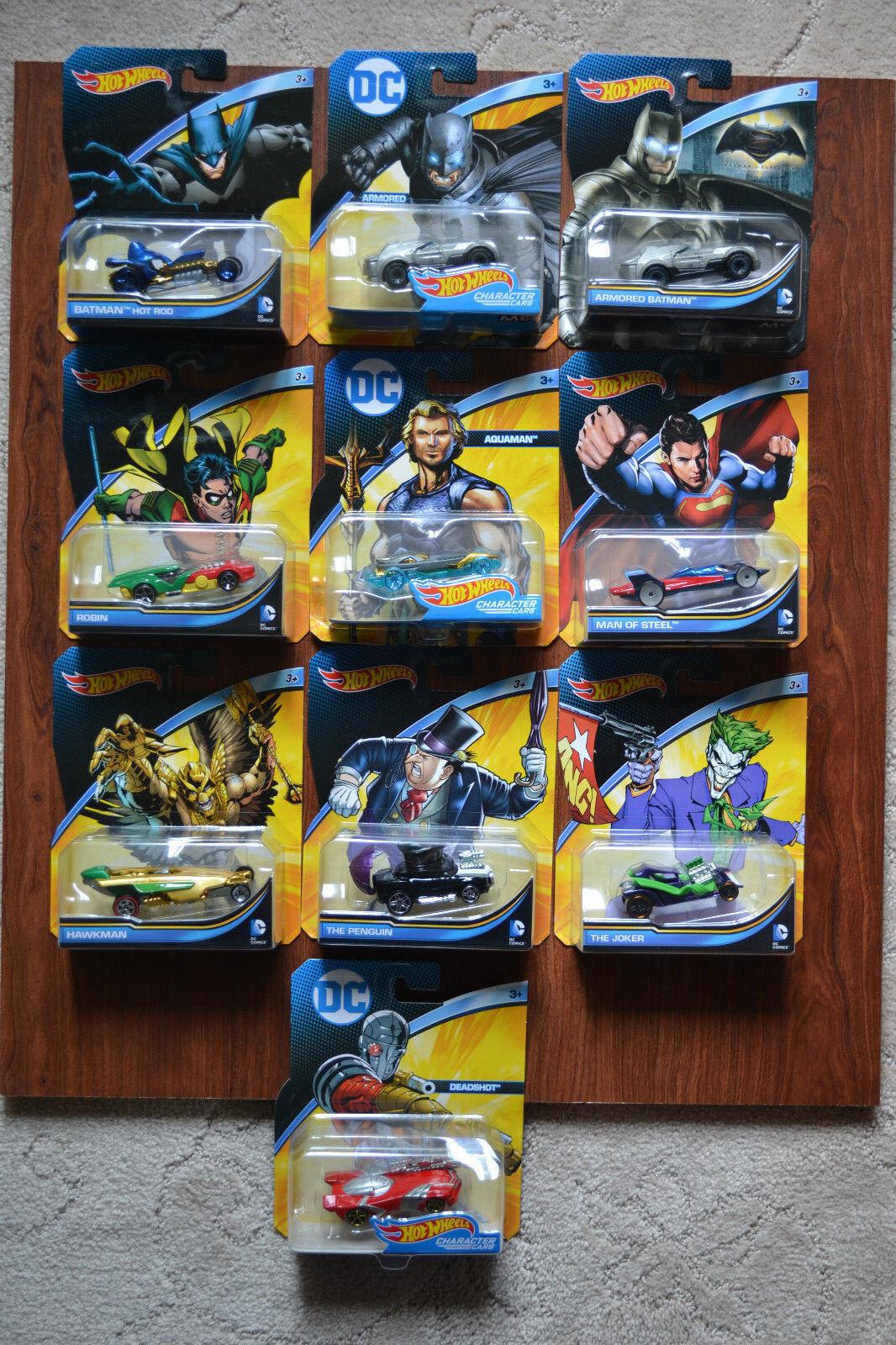 (10) heta hjul DC Universe bils läderlappen &Villians
