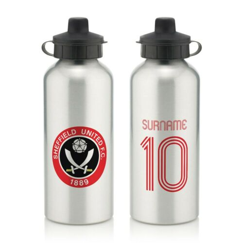 RETRO SHIRT Personalised Aluminium Water Bottle Sheffield United F.C