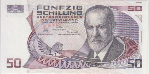UNC Austria Banknote P149 50 Schilling 1986 A-B