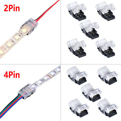 10 x RGB LED Stripe Leiste Verbinder Adapter 5050 3528 SMD Für Lichterkette