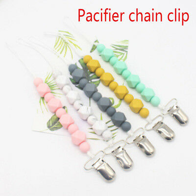 Chew Pacifier Clip Chain  Baby Nipple Clasps Teething Toy  Dummy Holder